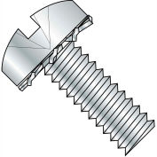4-40X1/4 Combination (slot/phil) Pan External Sems Machine Full Thread Zinc Bake,10000 pcs