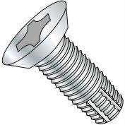 4-40X1/4  Phillips Flat Undercut Thread Cutting Screw Type F Fully Threaded Zinc, Pkg of 10000
