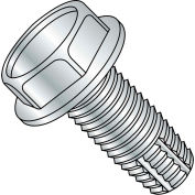 4-40X1/4  Unslotted Indented Hex Washer Thread Cutting Screw Type F Full Thrd Zinc, Pkg of 10000