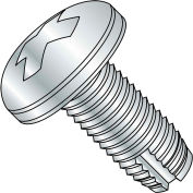 4-40 x 5/16 Phillips Pan Thread Cutting Screw - Type 1 Fully Threaded - Zinc - Pkg of 10000