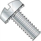 4-40X3/8 Combination (slot/phil) Pan External Sems Machine Full Thread Zinc Bake,10000 pcs