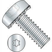 4-40X3/8  Six Lobe Pan Head External Tooth Sems Machine Screw Full Thrd Zinc Bake, Pkg of 10000