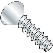 #4 x 3/8 Phillips Flat Plastite Alternative 48-2 Fully Threaded Zinc Bake And Wax - Pkg of 10000