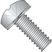 4-40X3/8  Phillips Pan Split Lock Washer Sems Fully Threaded 18 8 Stainless Steel, Pkg of 5000
