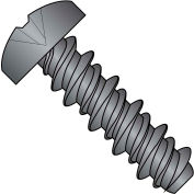4X1/2 #3HD  Phillips Pan High Low Screw Fully Threaded Black Oxide, Pkg of 10000