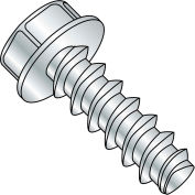 #4 x 1/2 Unslotted Indented Hex Washer Plastite alt. 48-2 Full Thread - Zinc - Pkg of 10000