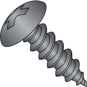 6X3/8  Phillips Truss Self Tapping Screw Type A B Fully Threaded Black Zinc Bake, Pkg of 10000