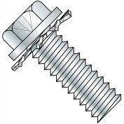 6-32X3/8 Phillips Indent Hex Washer External Sems Machine Full Thread Zinc Bake,10000 pcs