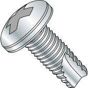 6-32X1/2  Phillips Pan Thread Cutting Screw Type 23 Fully Threaded Zinc, Pkg of 10000
