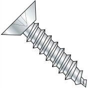 #6 x 5/8 Phillips Flat Undercut Self Tapping Screw Type AB Fully Threaded Zinc Bake - Pkg of 10000