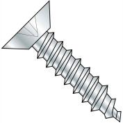 6X3/4  Phillips Flat Undercut Self Tapping Screw Type A B Fully Threaded Zinc Bake, Pkg of 10000