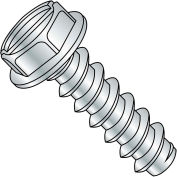 Made In USA 6X1 Slotted Indented Hex Washer Self Tapping Screw Type B full thread Zinc, Pkg of 9000