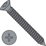 6X1 5/8  Phillips Trim Head Drywall Screw Fine Thread Black, Pkg of 5000