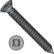 6X2 1/4  Square Drive Trim Head Drywall Screw Fine Thread Black Phosphate, Pkg of 3000