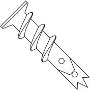 6  Easy Screw In Wallboard Anchor Engineered Nylon, Pkg of 100