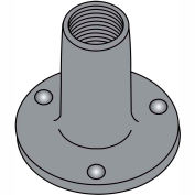 8-32X1/4  WELD NUT WITH PROJECTIONS .718 ROUND BASE STEEL PLAIN, Pkg of 1000