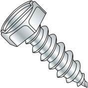 8X3/8  Indented Hex Slotted Self Tapping Screw Type A B Fully Threaded Zinc Bake, Pkg of 10000