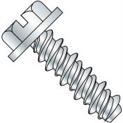 #8 x 3/8 Slotted Indented Hex Washer High Low Fully Threaded Zinc Bake - Pkg of 10000