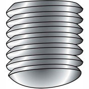 8-32X3/8  Coarse Thread Socket Set Screw Oval Point Plain Imported, Pkg of 50