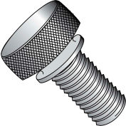 "#8-32 x 3/8"" Knurled Thumb Screw w/ Washer Face - FT - Aluminum - Pkg of 100"