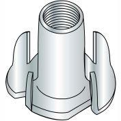 8-32X7/16  4 Prong Tee Nut Zinc, Pkg of 2000