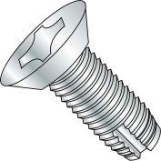 8-32X1/2  Phillips Flat Undercut Thread Cutting Screw Type 1 Fully Threaded Zinc, Pkg of 10000