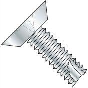 #8 x 1/2 Phillips Flat Undercut Thread Cutting Screw Type 25 Fully Threaded Zinc - Pkg of 10000