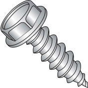 8X1/2  Unslot Ind Hexwasher Self Tapping Screw Type A Full Thread 18 8 Stainless Steel, Pkg of 5000