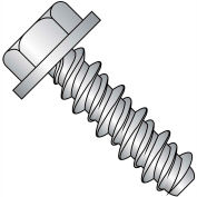 8X1/2  Unslot Indented Hex Washer High Low Screw Full Thrd 4 10 Stainless Steel, Pkg of 7000