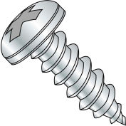 #8 x 1 Phillips Pan Self Tapping Screw Type A Fully Threaded Zinc Bake - Pkg of 5000