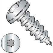 #8 x 1 Six Lobe Pan Self Tapping Screw Type A Fully Threaded 18-8 Stainless Steel - Pkg of 4000