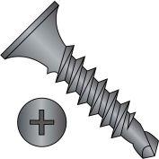 #8 x 1-1/4 Phillips Bugle Head Full Thread Self Drilling Drywall Screw Black Phosphate - Pkg of 2500