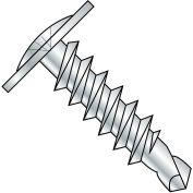 #8 x 1-1/2 Phillips Modified Truss Head Self Drilling Scew Full Thread Zinc Bake - Pkg of 2000