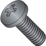 8-32X1 1/2  Phillips Pan Full Thread Machine Screw Fully Threaded Black Oxide, Pkg of 3000