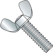 8-32X2  Light Series Cold Forged Wing Screw Full Thread Type A Zinc, Pkg of 200