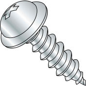 #8 x 2-1/2 Phillips Round Washer Self Tapping Screw Type A Fully Threaded Zinc Bake - Pkg of 1250