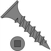 8X3  Square Recess  Drive Bugle Head Coarse Thread Drywall Screw Black Phosphate, Pkg of 2000