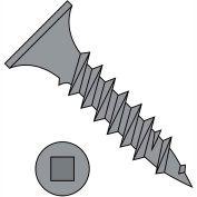 8X3  Square Drive Bugle Head Fine Thread Drywall Screw Black Phosphate, Pkg of 2000