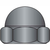 8-32  Two Piece Low Crown Cap Nut Black Zinc, Pkg of 2000