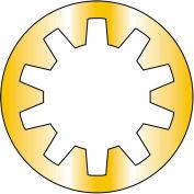 8  Internal Tooth Lock Washer Zinc Yellow, Pkg of 10000