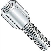 4-40X1/4  3/16 Hex Jackscrew Male Zinc, Pkg of 2000