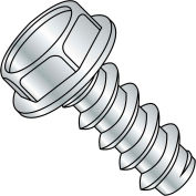 10X5/16  Unslotted Indented Hexwasher Self Tapping Screw Type B Full Thread Zinc Bake, Pkg of 9000
