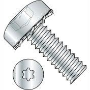 10-24X3/8  Six Lobe Pan Head External Tooth Sems Machine Screw Full Thrd Zinc Bake, Pkg of 5000