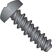10X3/8 #8HD  Phillips Pan High Low Screw Fully Threaded Black Zinc Bake, Pkg of 10000