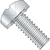 10-24X3/8  Phillips Pan Internal Sems Machine Screw Fully Threaded Zinc, Pkg of 5000