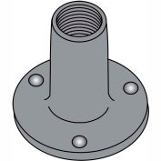 10-24X9/32  Weld Nut With Projections .750 Round Base Steel Plain, Pkg of 1000