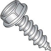 10X7/8  Slot Ind Hex Wash Self Tapping Screw Type A B Full Thrd 18 8 Stainless Ste, Pkg of 2000