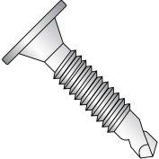 10-24X1 Phil Wafer Head #3 Point Self Drill Scr Mach Scr Thd Full Th 410 SS,2500 pcs