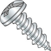 #10 x 1-1/4 Combination Pan Head Self Tapping Screw Type A Fully Threaded Zinc Bake - Pkg of 3000