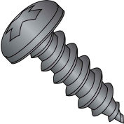 #10 x 1-1/2 Phillips Pan Self Tapping Screw Type AB Fully Threaded Black Oxide - Pkg of 3000